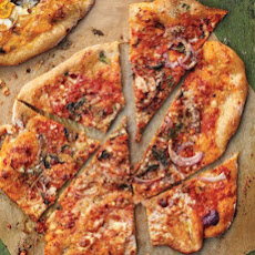 Pizza with Anchovies, Red Onion, and Oregano