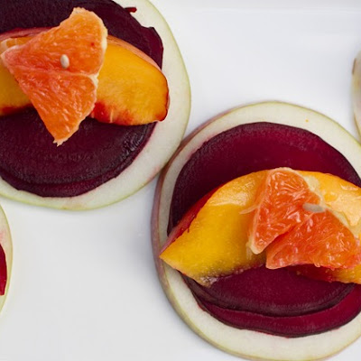 Energizing Stacked Beet, Apple, and Orange Salad