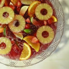 Tart and Bubbly Wedding Punch