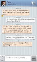 Screenshot of GO SMS Pro SimpleStripe theme