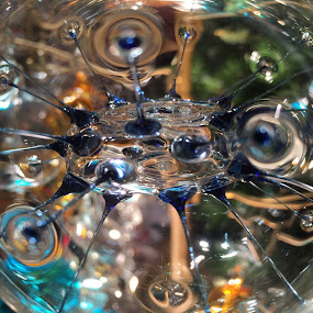 Glass Ornament by VAM Photography - Abstract Macro ( abstract, macro, ornament, christmas, nyc )