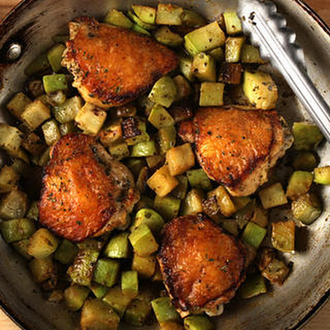 Braised Chicken and Chayote