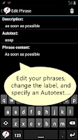 Screenshot of Autotext PhraseExpress