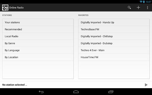 Online Radio - screenshot