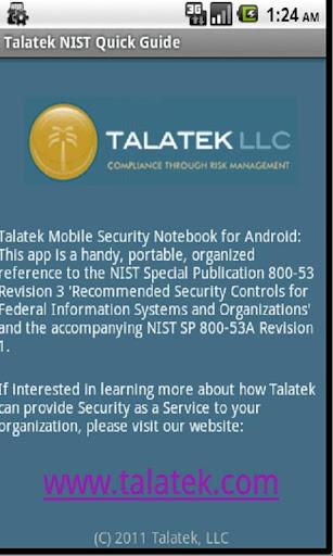 Talatek NIST Quick Guide