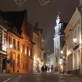 Old town street by Evaldas Kazragis - City,  Street & Park  Street Scenes