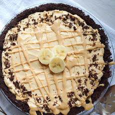 Peanut Butter Banana Cream Pie with a Chocolate Cookie Crust