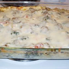 Creamy Sausage and Spinach Lasagna
