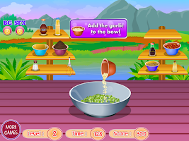 Screenshot of grilled salmon cooking games