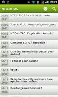 Screenshot of NTIC et TAC