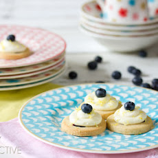 Blueberry Shortbread Cookies with Lemon Frosting
