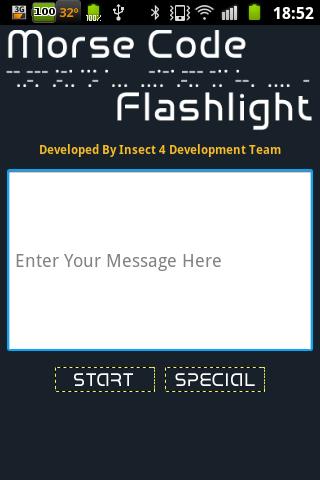 Morse Code Flashlight ACE