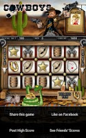 Screenshot of Cowboys Slot Machine HD