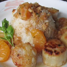 Seared Sea Scallops in Mandarin Sauce