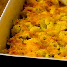 Cauliflower Gratin with Sharp Cheddar and Parmesan