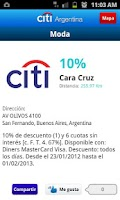 Screenshot of Citi Argentina