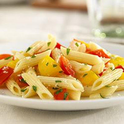 Mini Penne with Sweet Peppers and Cheese
