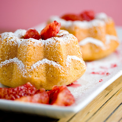 Mini Coconut Blood Orange Bundt Cakes