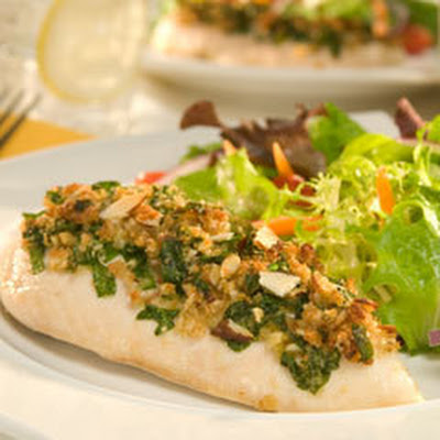 Spinach & Almond Topped Chicken