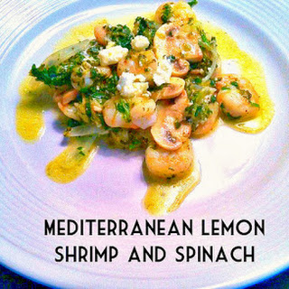 Mediterranean Lemon Shrimp and Spinach