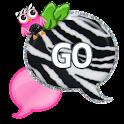 GO SMS - Zebra Pink Owl icon