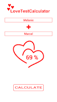 Screenshot of Love Test Calculator