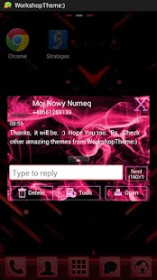 GO SMS Theme Pink Fire Buy - screenshot