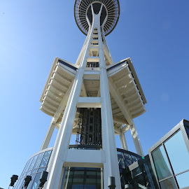 Space Needle by Peder Magerøy - City,  Street & Park  City Parks ( building, iconic, seattle, needle, wa, space, wasington, spaceneedle,  )
