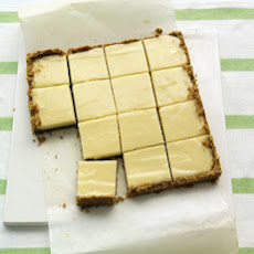 Lime Squares with Pistachio Graham-Cracker Crust