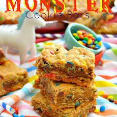 Nutella-Filled Monster Cookie Bars
