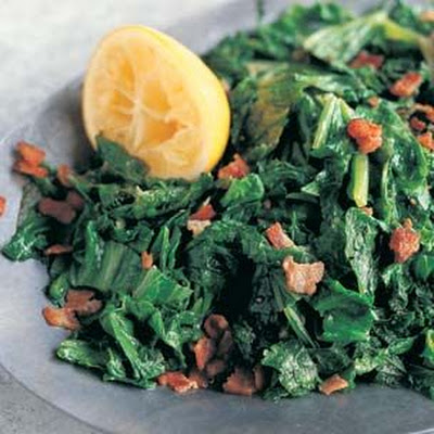 Braised Mustard Greens with Pancetta and Lemon