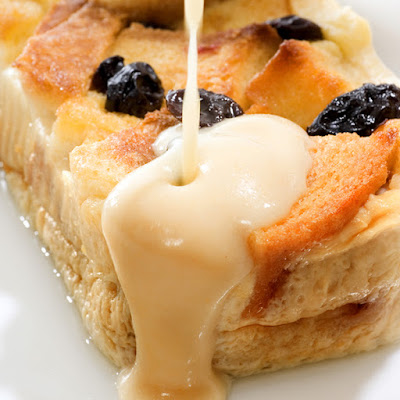 Bread Pudding with Vanilla Cream Sauce