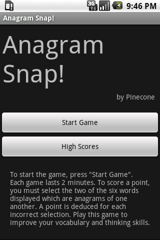 Anagram Snap