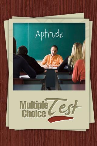 Aptitude Multiple Choice Test