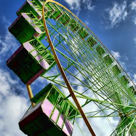 Big Wheel by Antonio Amen - Buildings & Architecture Bridges & Suspended Structures ( wheel, seats, big, circus )