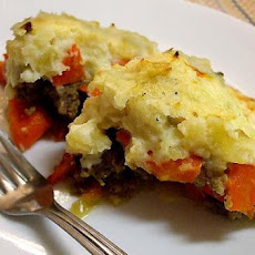 Ground Beef and Sausage Pie (Pastry or Potato Topped)
