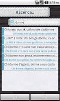 Screenshot of Proverbi Italiani - Categorie