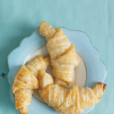 Glazed Cheese Croissants