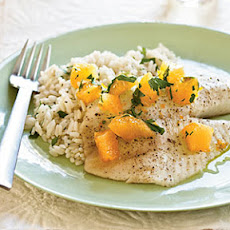 Roasted Tilapia with Orange-Parsley Salsa