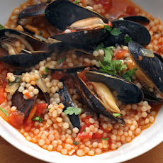 Mussels with Israeli Couscous and Tomatoes