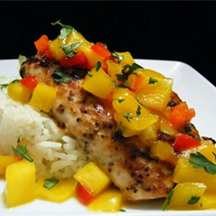 Mahi Mahi with Coconut Rice and Mango Salsa Recipe | Yummly