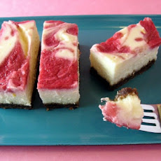 Strawberry-Rhubarb Cheesecake Squares