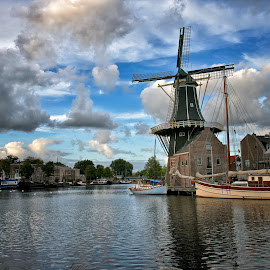 Haarlem Windmill by Dick Eigenraam - Buildings & Architecture Public & Historical ( iphoto original, iphoto converted )