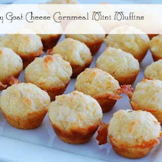 Rosemary Goat Cheese Cornmeal Mini Muffins - party appetizer or dinner ...