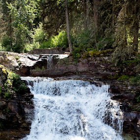 Natural Waterfall by Denver Pratt - Landscapes Waterscapes (  )