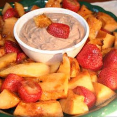 Grilled Fruit With Chocolate Yogurt Dip