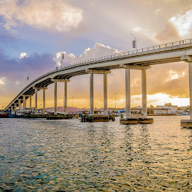 Paradise Island Bridge by Tony Williams - Landscapes Travel ( water, sea, bridge, canal, bahamas, caribbean )