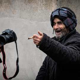 He loved it! by Albert Pich - People Street & Candids ( old, street, old man )