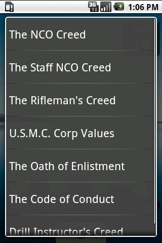 【免費生活App】USMC Creeds Free-APP點子