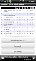 Screenshot of Rugby Résultats FFR